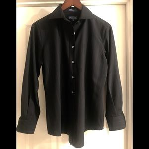 Faconnable wool button Down Blouse